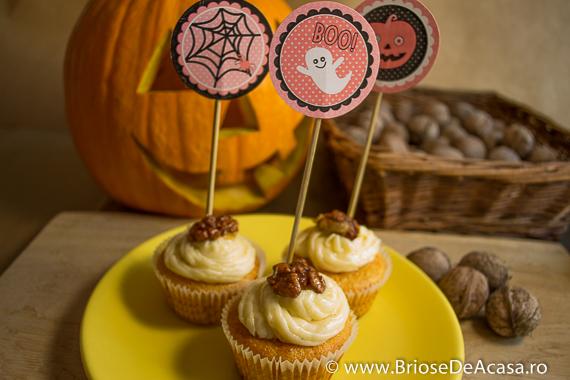 Cupcakes de Halloween, cu dovleac