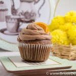 Cupcakes cu ciocolata si mandarine