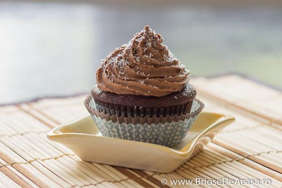 Cupcake cu cacao si ciocolata