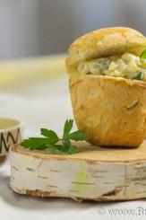 Briose aperitiv cu ciuperci si fasole
