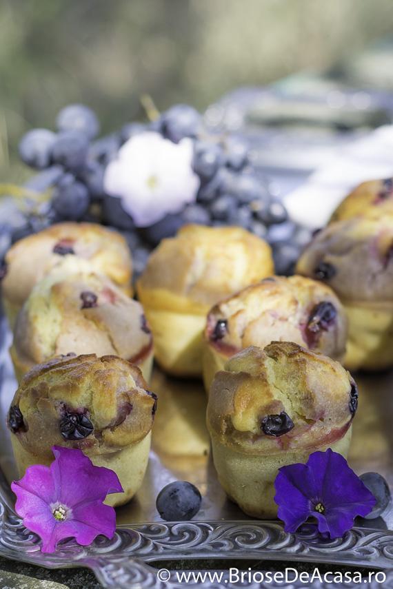 Muffins cu struguri si must