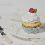 Briose cu Swiss meringue si zmeura
