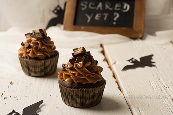 Cupcakes de Halloween cu Dovleac si Ciocolata