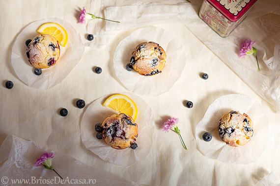 Muffins cu afine si lamaie