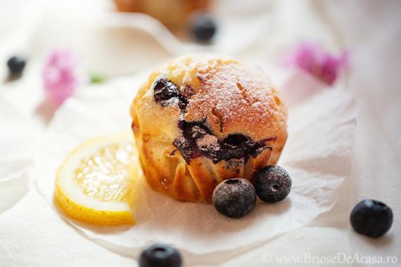 Muffins cu chefir, afine si lamaie